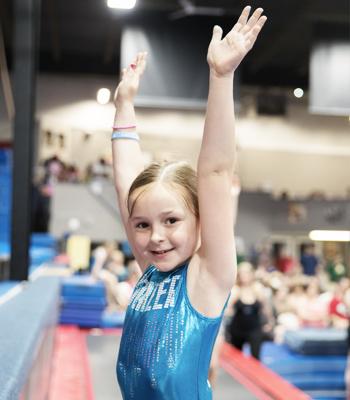 Shining Star Gymnast in Leotard