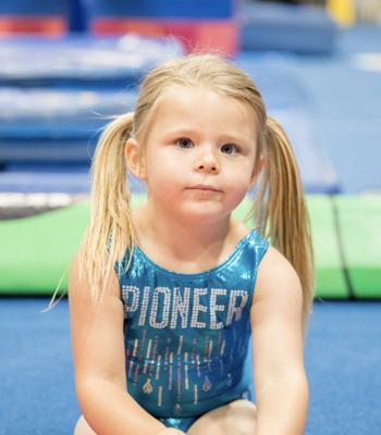 Tiny Star Gymnast in Leotard
