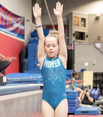Gymnast in Leotard